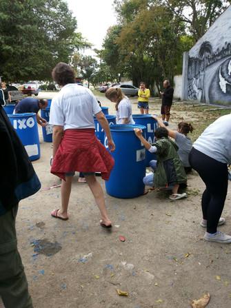 Mutirão sustentável na Resex de Itaipu