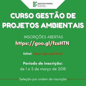CURSO GESTÃO DE PROJETOS AMBIENTAIS