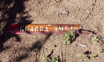 Sinalização da Travessia Tupinambá é destruída antes da inauguração