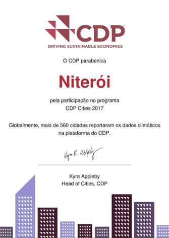 Niterói envia ao CDP dados sobre impactos ambientais