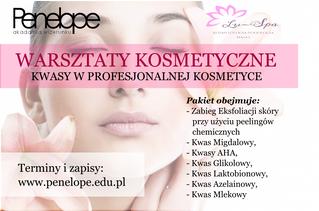 Warsztaty Kosmetyczne - Kwasy w Profesjonalnej Kosmetyce