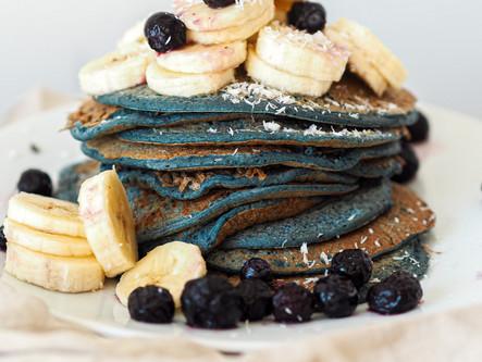Blues pancakes protéinés