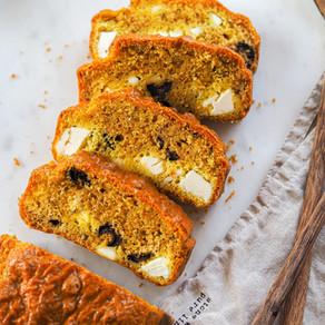 Cake féta olives curcuma