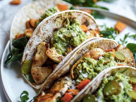Tacos au poulet & légumes