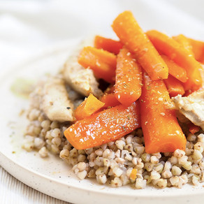 Sarrasin et carottes glacées
