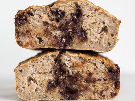 Banana bread vegan aux pépites de chocolat
