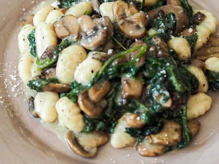 Gnocchis épinards champignons