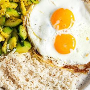Courgettes œufs riz