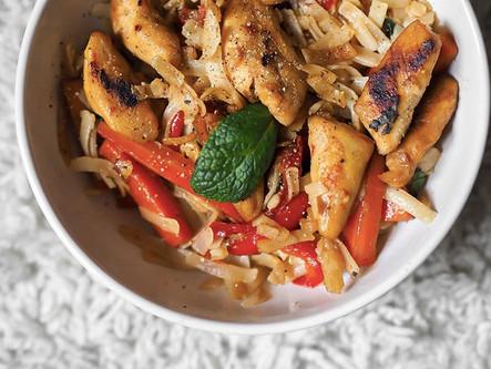 Wok de poulet soja & légumes