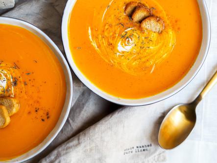 Soupe de carottes crème de coco