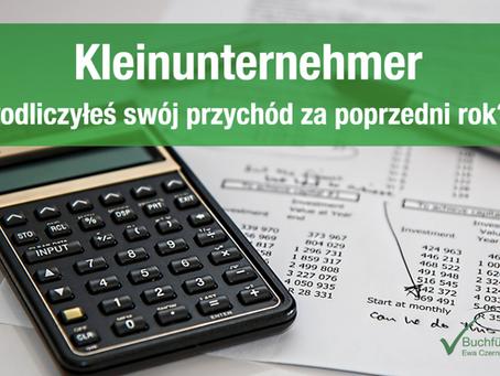 Kleinunternehmer - podliczyłeś swój przychód za poprzedni rok?