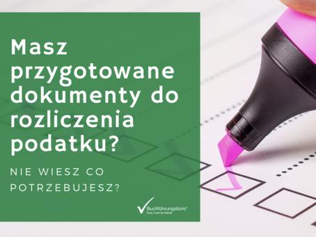 Masz przygotowane dokumenty do rozliczenia podatku?