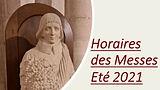 Vignette Horaires des Messes été 2021 Sa