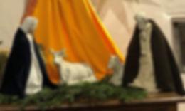La crèche à l'église de Buxy