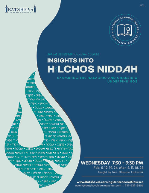 Insights into Hilchos Niddah Course Textbook
