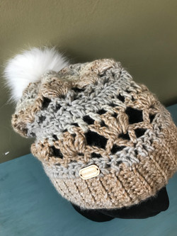 Felicity Beanie with faux fur Pom