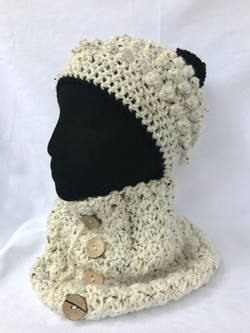 Bobble and Cowl Set