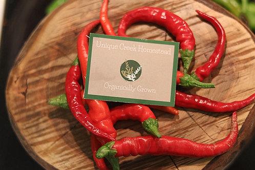Cayenne Chili Pepper Organic Seeds