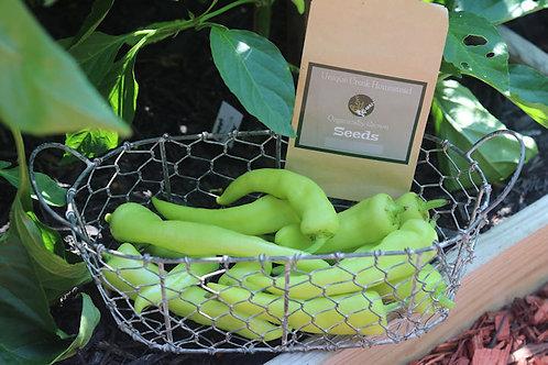 Sweet Banana Chili Pepper Organic Seeds
