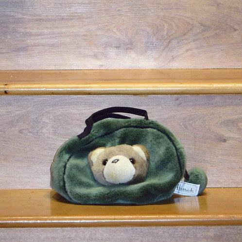 Harrods Green Bag with Bear Face