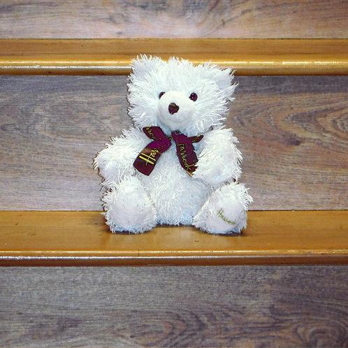 Harrods White Fluffy Teddy Bear
