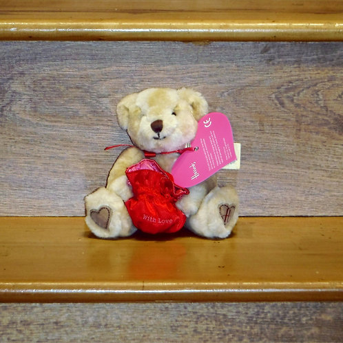 Harrods Valentines Applique Bear 2002