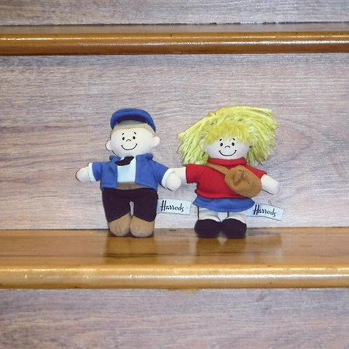 Harrods School Boy & Girl Dolls