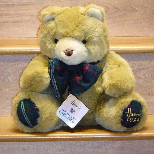 1994 Harrods Christmas Bear - Highland Christmas