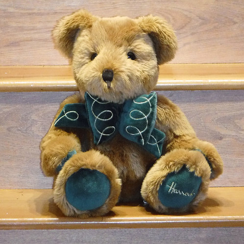 Harrods Green and Gold  Bear