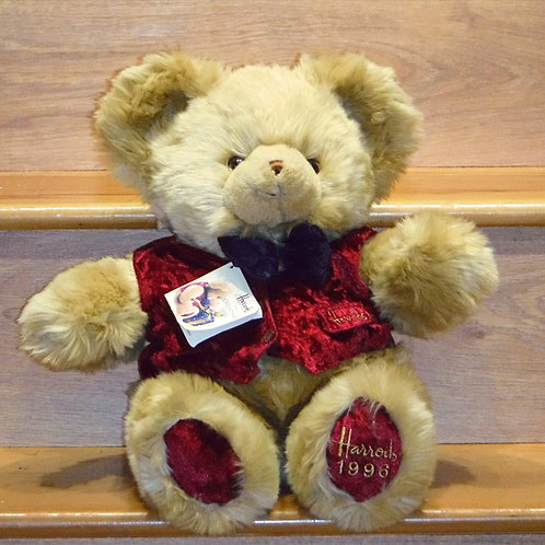 1996 Harrods Christmas Bear - BARNES
