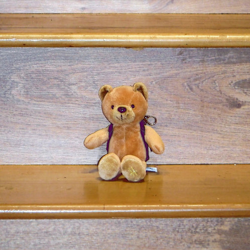 Harrods  Teddy with Backpack and Keyring