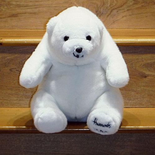 1989 Harrods Christmas Bear - White Christmas