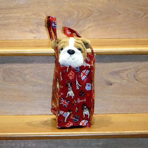 Harrods Bulldog in Harrods Bag