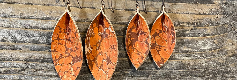 Marbled Leather Terra-cotta/Brown
