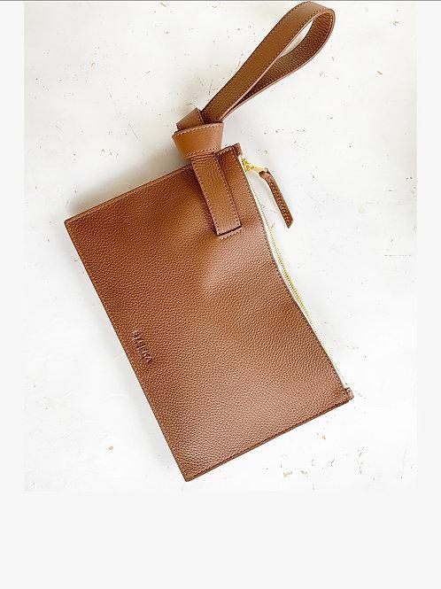 Stefka NYC Leather Knot Clutch