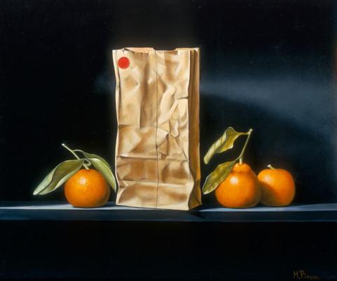 Paper Bag and Oranges