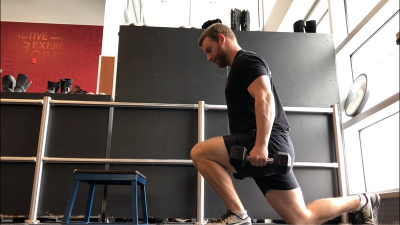 step-up to reverse lunge