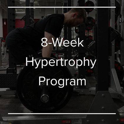 8 Week Hypertrophy Program