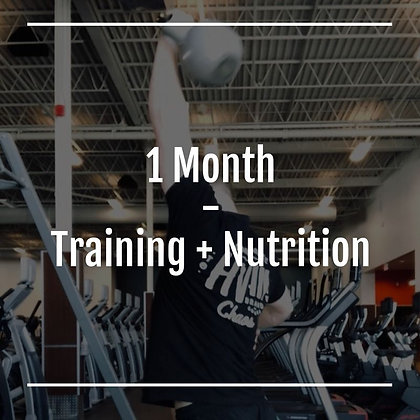 1 Month Training & Nutrition Coaching