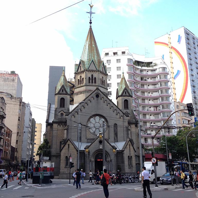 Basílica de Nossa Senhora da Conceição precisa de R$ 31 milhões para restaurar acervo artístico de um século. Foto: Arquidiocese de São Paulo.