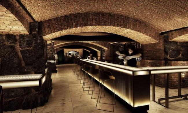 O Bar dos Arcos mantém estrutura rústica mas conta como modernos balcões luminosos. Foto: Cleiby Trevisan / Divulgação.