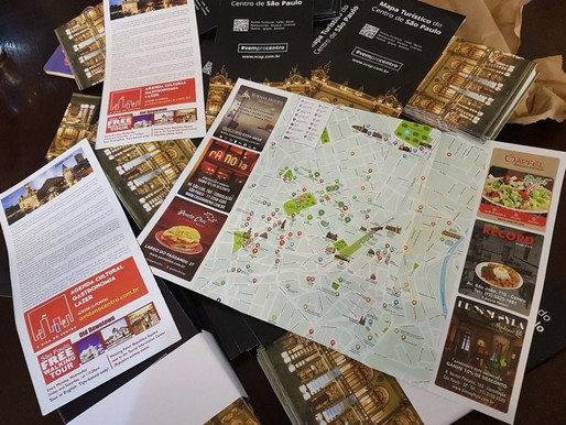 Movimento Centricidade lança mapa turístico da região central