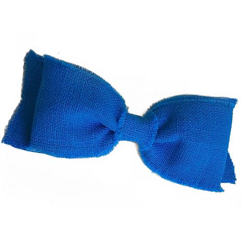 Laço de cabelo Lila em tweed azul