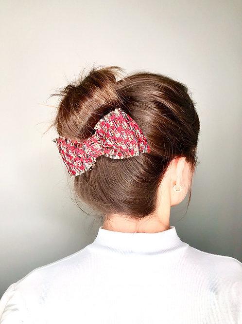 Laço de cabelo Jenny em tweed multicolorido