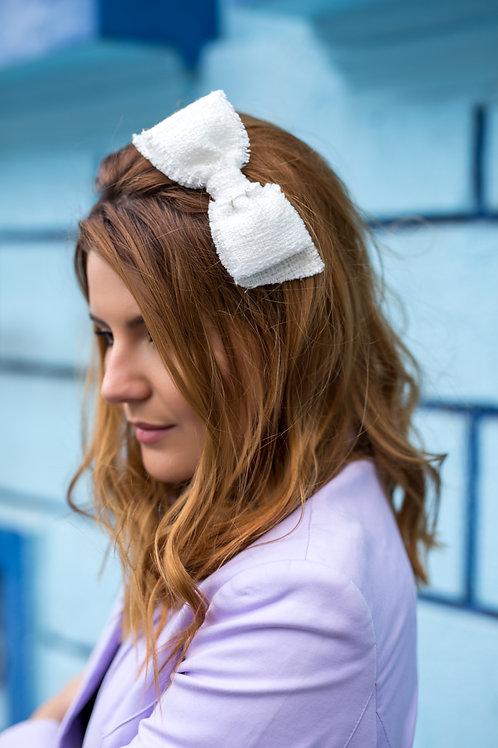Laço de cabelo Sarah em tecido tweed