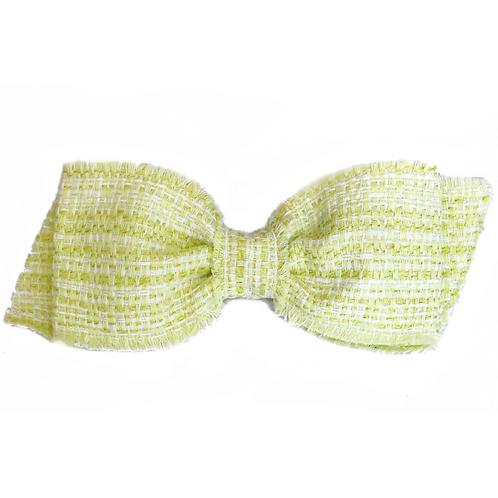 Laço de cabelo Dora em tweed verde