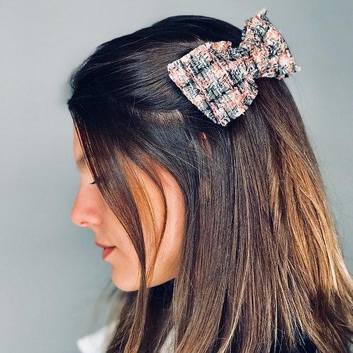 Laço de cabelo Ava em tweed multicolorido