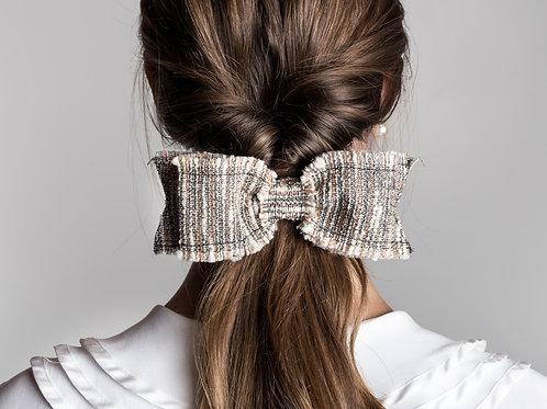 Laço de cabelo Chloe em tweed multicolorido