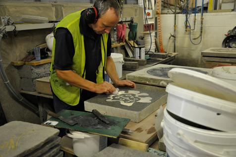 Manufacturing the paving blocks 07JPG