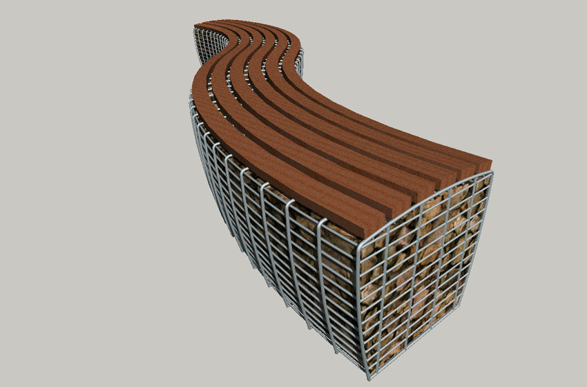 Ropetackle Commission - Gabion Seating